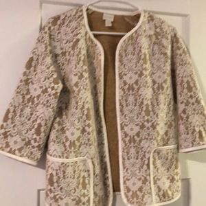 Chico's nude and lace blazer